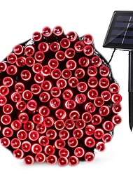 cheap -10m String Lights 100 LEDs 1pc Warm White Cold White Red Valentine's Day Christmas Decorative Solar Powered