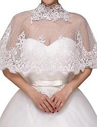 cheap -Half Sleeve Basic Lace Wedding Shawl & Wrap With Lace