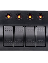 cheap -12-24V Car Switch / 4PIN Single Light 4 Position 4 Control Dual Color Indicator Switch Combination Panel / IP65 / with a Reset Switch 3 Non-Reset Switches