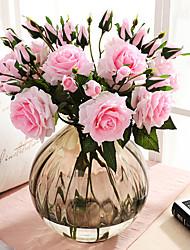 ieftine -43 cm floare artificială de trandafir hidratantă ținând ziua de valentină 1 stick