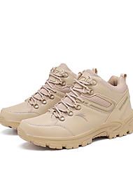 cheap -Men's Sneakers Hiking Shoes Hiking Boots Breathable Comfortable Hiking Walking Autumn / Fall Spring khaki Black