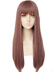 Недорогие -ГАГА ЛЕДИ Косплэй парики Жен. Прямая челка 26 дюймовый Термостойкое волокно Естественные прямые Коричневый Коричневый Аниме
