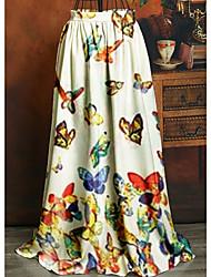 cheap -Women's Swing Skirts - Geometric Yellow Blushing Pink White S M L