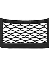 cheap -Universal Car Seat Side Back Storage Net Bag Phone Holder Pocket Organizer Black