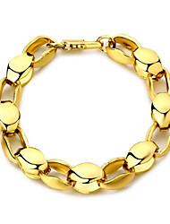 Недорогие -Браслеты-цепочки и звенья Классический Мода Мода Позолота 18К Браслет Ювелирные изделия Золотой Назначение Вечерние Подарок