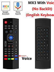 cheap -MX3 - air flying squirrels M2.4 G 6 axis wireless keyboard MX3 phonetic version of android STB intelligent remote control