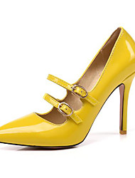 cheap -Women's Heels Stiletto Heel Closed Toe PU Summer Almond / Yellow / Red