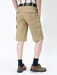 """cheap -Men's Hiking Shorts Hiking Cargo Shorts Camo Summer Outdoor 10"""" Standard Fit Breathable Ultra Light (UL) Sweat-wicking Comfortable Cotton Shorts Bottoms Camping / Hiking Hunting Fishing Army Green"""
