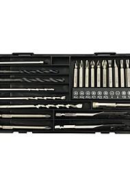 Недорогие -электроинструмент, сверло, отвертка, дрель для плитки, набор для комбинирования отверстий для деревообработки, ящик для инструмента