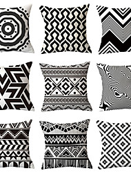 cheap -Set of 9 Throw Pillow Simple Classic  Cushion Vintage Circle Cover Sofa Home Decor Throw Pillow Case