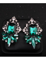 cheap -Women's Stud Earrings Classic Love Classic Vintage Imitation Diamond Earrings Jewelry Dark Green For Gift Daily 1 Pair