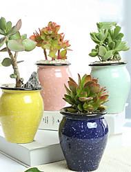 Недорогие -6 упак. Маленький сочный цветочный горшок керамический специальное предложение оформление суккулентное растение керамика ретро вегетарианское горение творческая личность маленький цветочный горшок