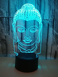 cheap -Round 3D Nightlight Night Light Color-Changing with USB Port Bicycle USB 1pc