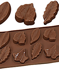 cheap -Silicone Mold 8 Different Leaves Chocolate Pudding Ice Mold DIY Baking Tools 3D Maple Leaf