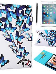 Недорогие -кейс&усилитель; Стилус&усилитель; Защита экрана 1pcs для яблока ipad air / ipad (2018) / ipad air 2 / pro 9.7 с подставкой / флип / ультратонкая задняя крышка бабочка искусственная кожа