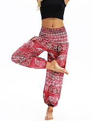 cheap -Women's Sporty Sweatpants Pants - Print Red Blue One-Size