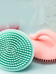 cheap -Children's Silicone Shampoo Brush Baby Baby Tire Cleaning Baby Bath Cotton Sponge Bath Rubbing Bath Artifact