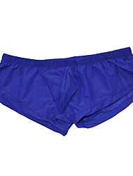 cheap -Men's Basic Boxers Underwear - Normal Low Waist Blue One-Size