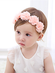 cheap -Fabric Headbands Durag Kids Bowknot Elasticity For New Baby Holiday Stylish Active Pale Pink 1 Piece