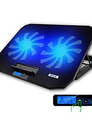 Недорогие -игровой ноутбук кулер с регулируемой скоростью 1400rpm 2 порта USB и 2 вентилятора охлаждения подставка для ноутбука подставка для ноутбука
