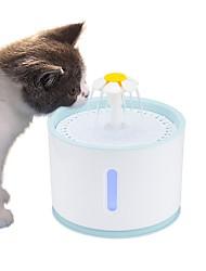 Недорогие -2.4л автоматическая любимая кошка фонтан воды со светодиодной электрической usb собака кошка любимая немой пьющий кормушка чаша любимый питьевой фонтан дозатор