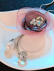 Недорогие -Жен. Черный Розовый Цирконий длинное ожерелье Классический Розы Простой Классика Мода Хром Розовый Черный 80 cm Ожерелье Бижутерия 1шт Назначение Подарок Повседневные фестиваль