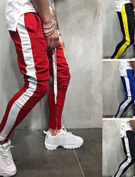 cheap -Men's Jogger Pants Joggers Running Pants Track Pants Sports Pants Athletic Athleisure Wear Bottoms Side-Stripe Drawstring Sport Running Active Training Jogging Breathable Soft Moisture Wicking Red