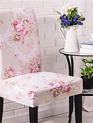 Недорогие -Розовый цветок печати супер мягкий чехол на стул стрейч съемный моющийся столовая стул защитник чехлы домашнего декора столовая чехлы на сиденья