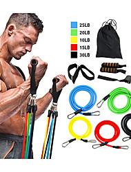 Недорогие -Набор эспандеров 11 pcs Виды спорта TPE Главная тренировка Тренажерный зал Пилатес Упражнения с собственным весом для увеличения мышечной массы Наращивание мышц Сила всего тела Для Мужчины Женский
