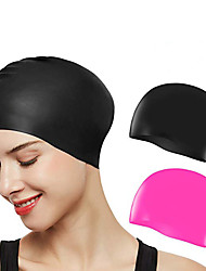 cheap -Swim Cap for Adults Silicone Stretchy Comfortable Durable Swimming Watersports