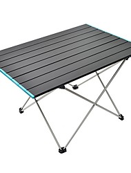 cheap -Outdoor Portable Ultralight Aluminum Alloy Folding Table Picnic Camping Aluminum Patio Table 68*46.5 Large