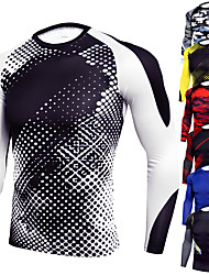 cheap -JACK CORDEE Men's Compression Shirt Running Shirt Running Base Layer Athletic Long Sleeve Winter Spandex Breathable Moisture Wicking Soft Running Active Training Jogging Sportswear Camo / Camouflage