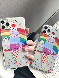 cheap -Case For Apple iPhone 11 11 Pro 11 Pro Max Ice cream pattern TPU transparent material painting process scratch-resistant mobile phone case