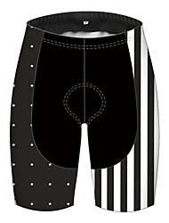 cheap -21Grams Men's Cycling Shorts Spandex Bike Shorts Padded Shorts / Chamois Pants Quick Dry Breathable Sports Solid Color American / USA National Flag Black+White Mountain Bike MTB Road Bike Cycling