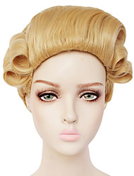 cheap -Duchess Cosplay Wigs Men's Women's With Ponytail 20 inch Heat Resistant Fiber Curly Yellow Adults' Anime Wig / Victorian
