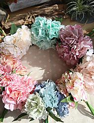 cheap -27cm Peony Tiffany Blue Artificial Flower Holding Flowers Wedding  1 stick