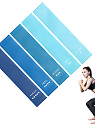 cheap -Resistance Loop Exercise Bands Resistance Bands Sports Emulsion Pilates Exercise & Fitness Gym Workout Adjustable Durable Resistance Training Myofascial Release, Trigger Point Therapy, Muscle Knots