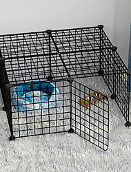 cheap -Dog Playpen Play House Fence Systems Foldable Washable Durable Free Standing Plastic Black 12pcs