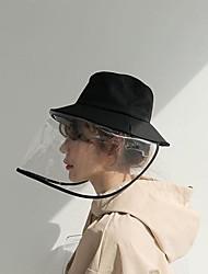 Недорогие -Базовая защитная шапка для женщин из полиэстера / летняя садовая / складная / пляжная / солнцезащитная солнцезащитная кепка с большими полями