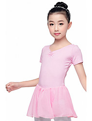cheap -Kids' Dancewear Dresses / Leotards Girls' Training / Performance Cotton Blend Bow(s) Short Sleeve Leotard / Onesie