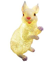 Недорогие -светодиодный открытый сад имитация кролика украшения ландшафтный дизайн из стеклопластика скульптура пейзаж лампа пастырское светящийся кролик водонепроницаемый