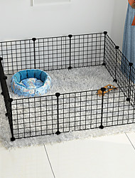 cheap -Dog Rabbits Playpen Play House Fence Systems Foldable Washable Durable Free Standing Plastic Black 12-Piece