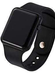 Недорогие -Универсальные электронные часы На каждый день Мода Черный Белый силиконовый Китайский Цифровой Розовое Золото Золотой Белый Светодиодная лампа Повседневные часы Cool 1 ед. Цифровой