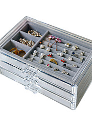 cheap -Storage Organization Jewelry Collection Cloth / Plastic Square Portable / Creative