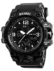 Недорогие -skmei 1155b мода мужчины спортивные часы мужчины кварцевые аналоговые светодиодные цифровые часы человек военные водонепроницаемые часы