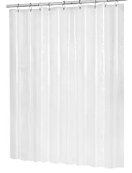 cheap -Mildew Resistant Peva Antibacterial Waterproof Shower Curtain Transparent White Transparent Bathroom Curtain Luxury Bathroom Curtain With Hook 180cmx180cm