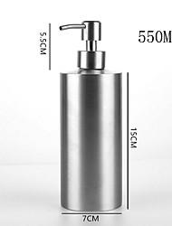 Недорогие -Push-on 304 из нержавеющей стали цилиндрический лосьон бар бар туалет дезинфицирующее средство для рук бутылка для хранения