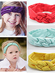 cheap -Fabric Headbands Durag Kids Bowknot Elasticity For New Baby Holiday Stylish Active Deep Purple Lake blue Spring Grass Green 1 Piece