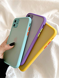 cheap -Mint Hybrid Simple Matte Bumper Phone Case For iPhone SE 2020 / 11 / 11Pro /11 Pro Max / X / XS / XR / XS Max / 6S / 8 / 7 Plus / 8Plus  Shockproof Soft TPU Silicone Clear Cover