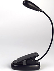 cheap -Reading Light Clip-On Built-in Li-Battery Powered For Study Room / Office Black